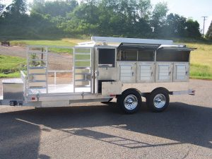 8-Hole 2 Closet ATV Trailer With Breezeway